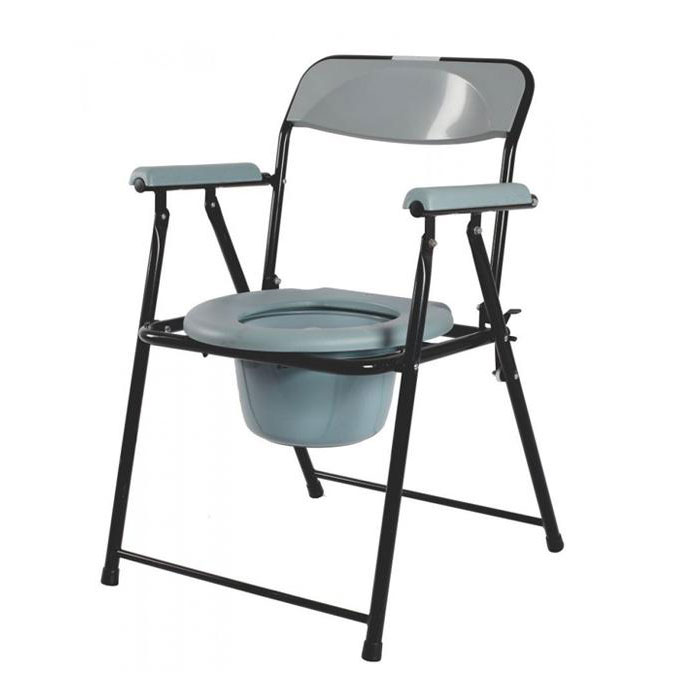 Toilet chair with backrest & armrest